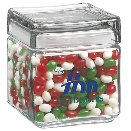 Square Glass Jar Mid Nite Snax