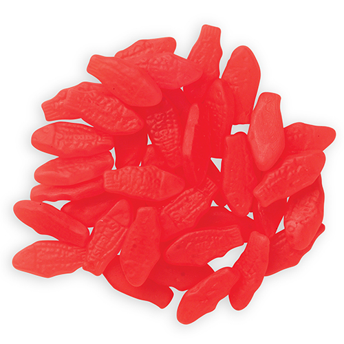 Gummy fish small red mid nite snax for Gummy fish candy